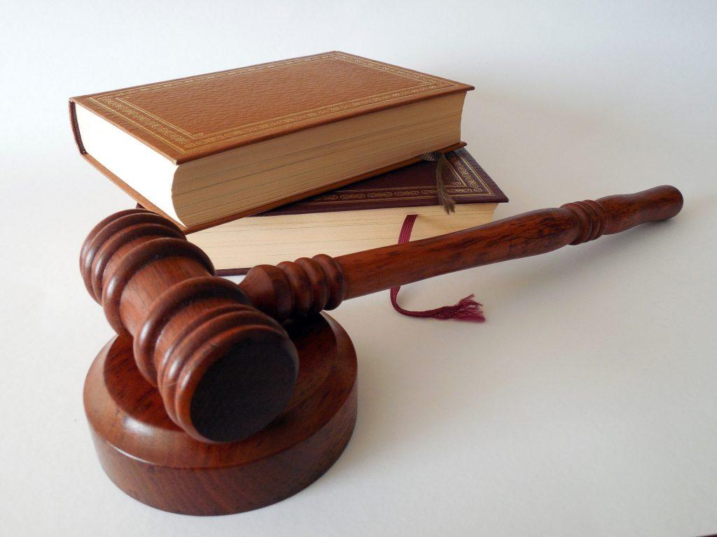 judge hammer and books