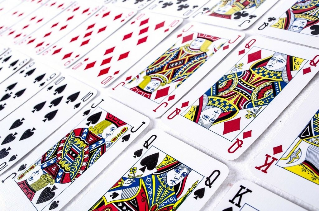 A whole bunch of playing cards
