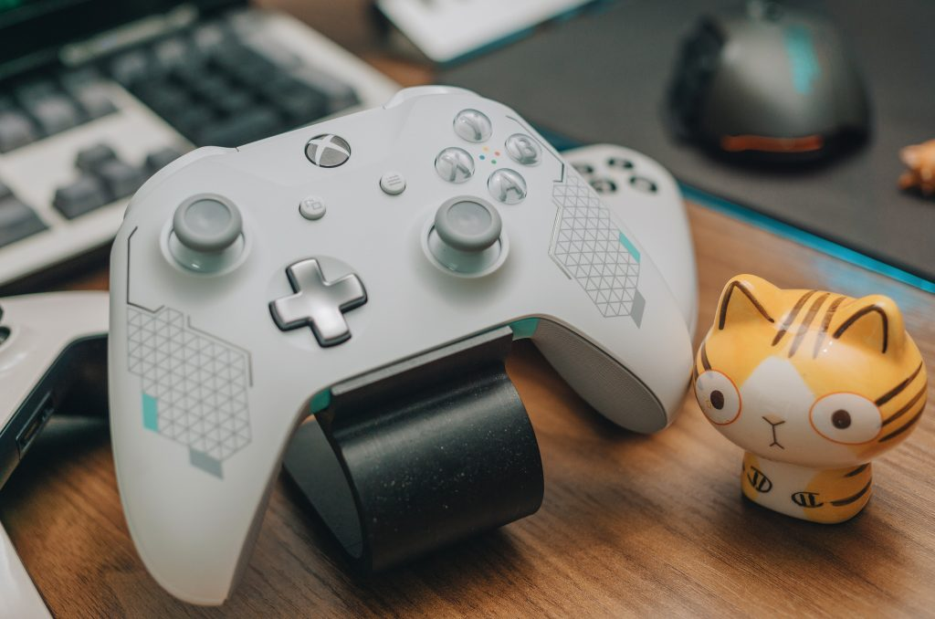 Xbox controller and figurine