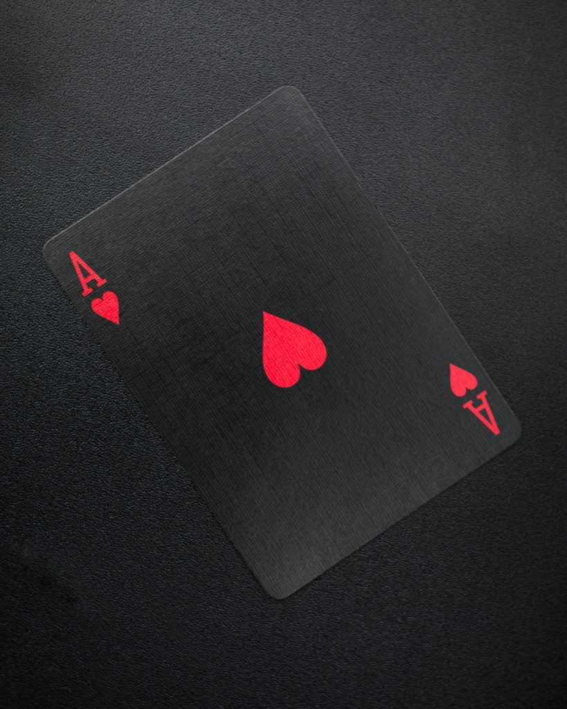 The Ace card shrouded in black