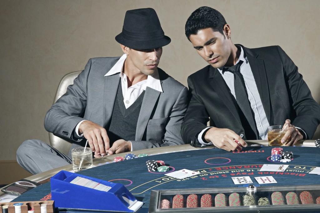 guys playing blackjack