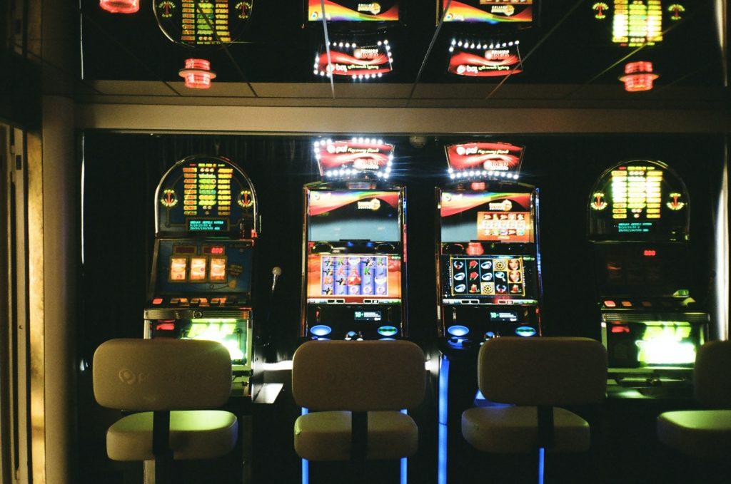 Bank of slot machines